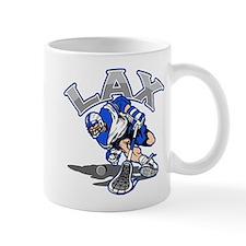 Lacrosse Player In Blue Mug