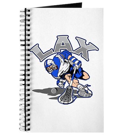 Lacrosse Player In Blue Journal