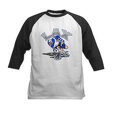 Lacrosse Player Blue Uniform Tee