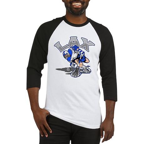 Lacrosse Player Blue Uniform Baseball Jersey