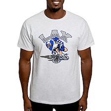 Lacrosse Player Blue Uniform T-Shirt