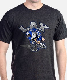 Lacrosse Player In Blue T-Shirt