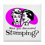 Discovered Stamping Tile Coaster