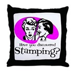Discovered Stamping Throw Pillow