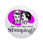 Discovered Stamping Ornament (Round)