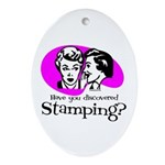 Discovered Stamping Oval Ornament