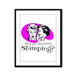 Discovered Stamping Framed Panel Print