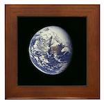 Framed Blue Marble Tile