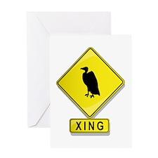 Buzzard XING Greeting Card