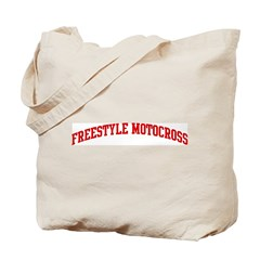 Freestyle Motocross (red curv Tote Bag