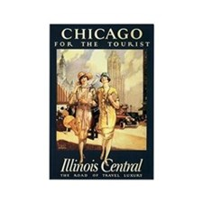 Chicago - for the tourist vintage art magnet