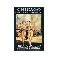 Chicago - for the tourist vintage art magnet