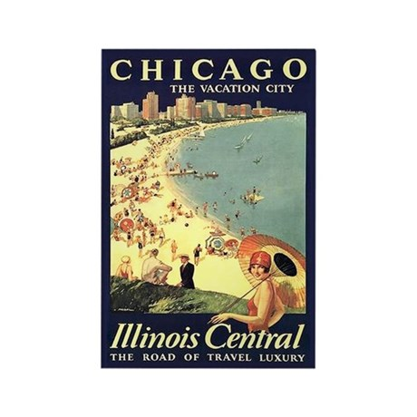 Chicago - the vacation city vintage art magnet