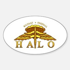 Golden Halo Badge Oval Decal