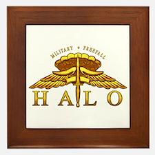 Golden Halo Badge Framed Tile
