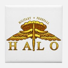 Golden Halo Badge Tile Coaster