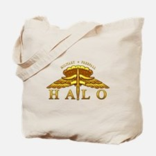 Golden Halo Badge Tote Bag