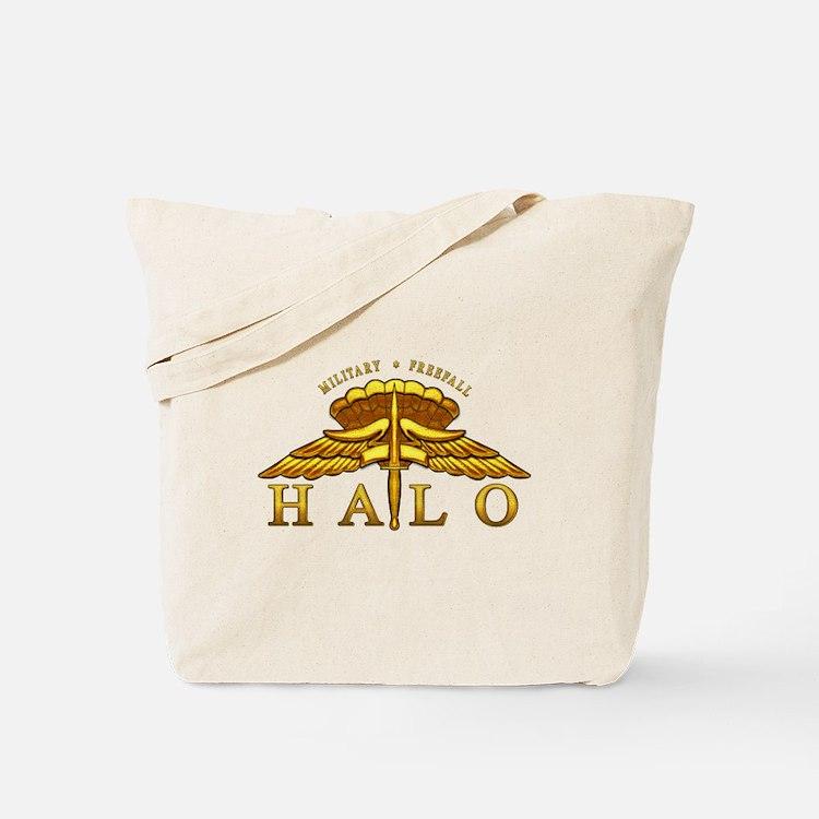 Golden Halo Badge Tote Bag