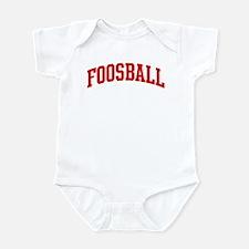 Foosball (red curve) Infant Bodysuit