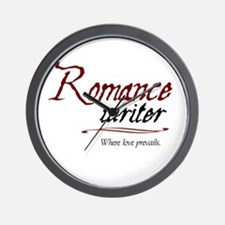 Romance Writer-Where Love Pre Wall Clock