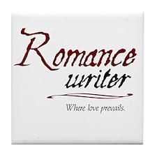 Romance Writer-Where Love Pre Tile Coaster