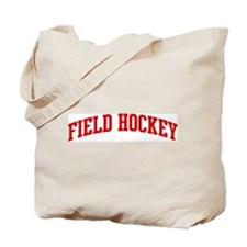 Field Hockey (red curve) Tote Bag