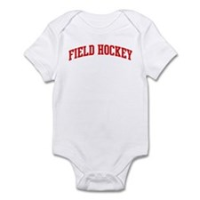 Field Hockey (red curve) Infant Bodysuit