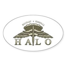 Halo Badge Oval Decal