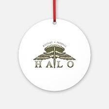 Halo Badge Ornament (Round)