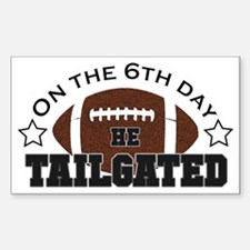 Cute Football tradition Sticker (Rectangle)