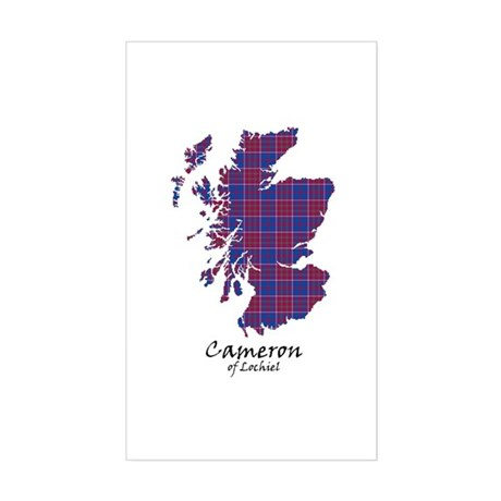 Map-Cameron of Lochiel Sticker (Rectangle)