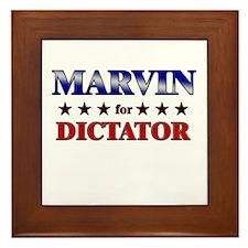 MARVIN for dictator Framed Tile