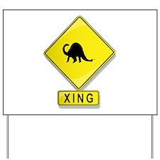 Brontosaurus XING Yard Sign