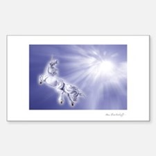 Unicorn into the Light ~ Rectangle Decal