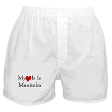 My Heart Is In Manitoba Boxer Shorts