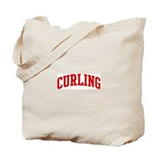 Curling (red curve) Tote Bag