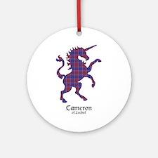 Unicorn-Cameron of Lochiel Round Ornament