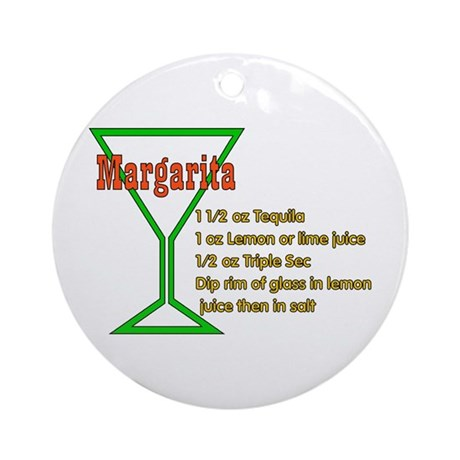 Margarita Ornament (Round)