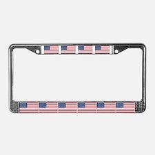 10 US Flag License Plate Frame