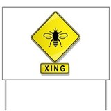 Bee crossing sign Yard Signs
