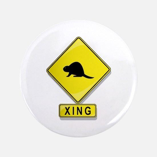 """Beaver XING 3.5"""" Button"""