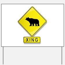 Bear XING Yard Sign