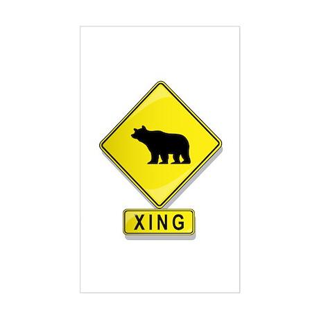Bear XING Rectangle Sticker