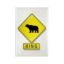 Bear XING Rectangle Magnet