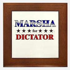 MARSHA for dictator Framed Tile