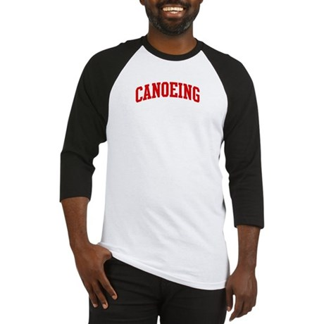 Canoeing (red curve) Baseball Jersey
