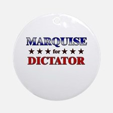 MARQUISE for dictator Ornament (Round)