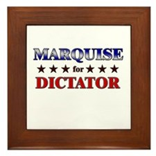 MARQUISE for dictator Framed Tile
