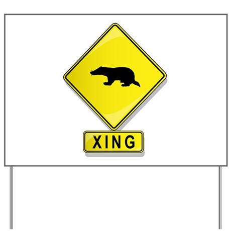 Badger XING Yard Sign