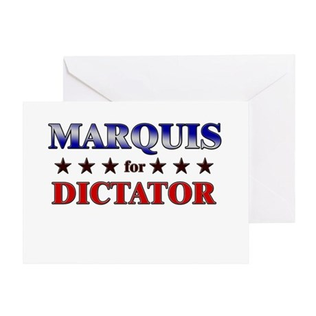 MARQUIS for dictator Greeting Card
